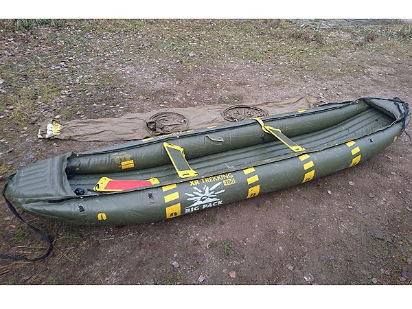 Schlauchboot-Kanadier grün