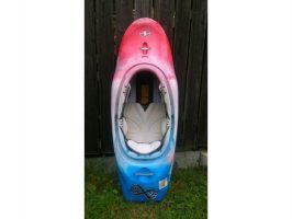 Freestyleboot blau-weiss-rot